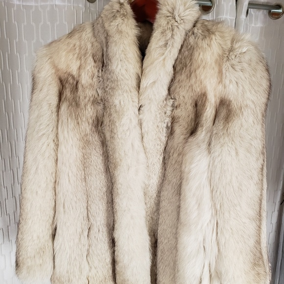 Jackets & Blazers - Blue fox fur coat